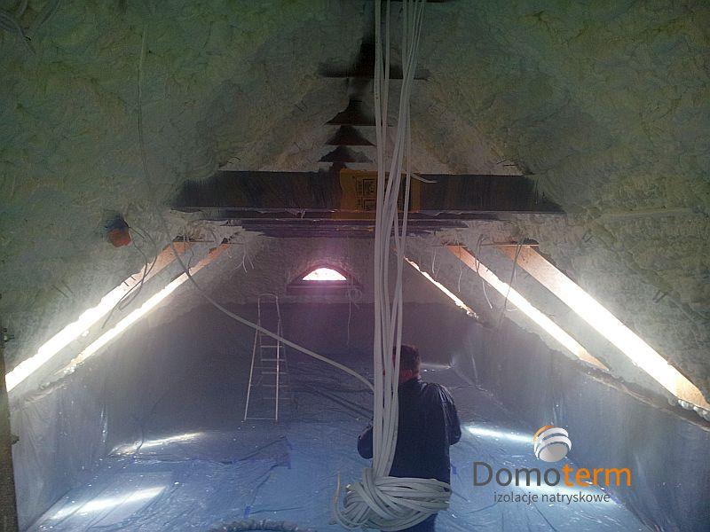 ocieplenie dachu kopertowego pianką PUR otwartokomórkową